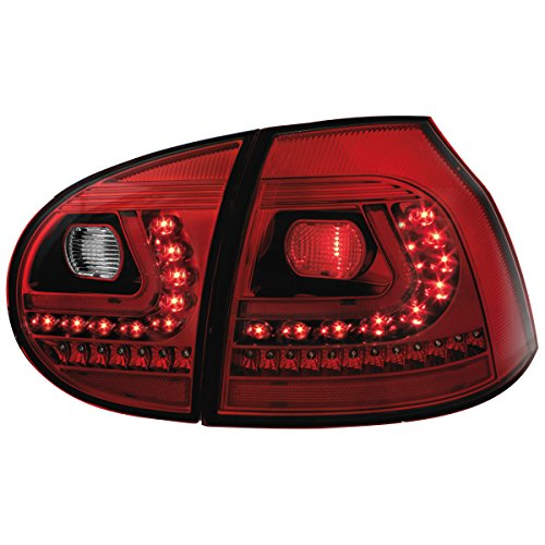 dectane led r ckleuchten vw golf v 03 09 rot klar. Black Bedroom Furniture Sets. Home Design Ideas